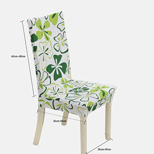 WEEFORT Modern Style Spandex Stretch Dining Chairs Cover Flower Printing Removable Seat Case Elastic Brief Swing Slipcover