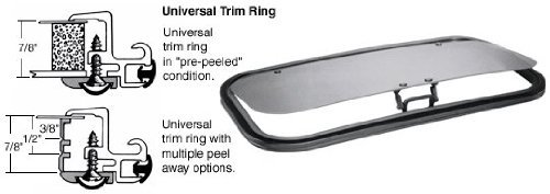 C.R. LAURENCE AP1530B5H CRL/SFC 15 x 30 AutoPort Sunroof Universal Trim Ring - Solar High Performance Glass