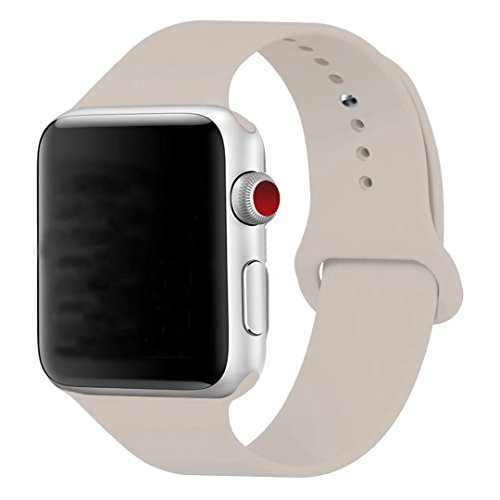 Antique Apple - TOPzera Apple Watch Band by Sport 42mm 38mm, for Series 3, Series 2, Series 1, Soft Silicone Strap Replacement iWatch Bands S/M M/L (Antique White, 42mm M/L)