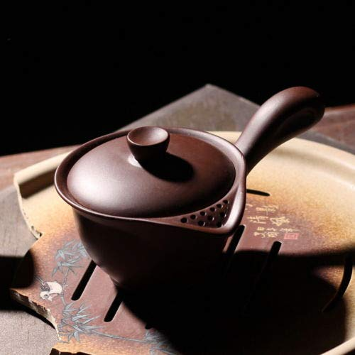Clay Brown Side Handle ped Teapot with Filter 150ml