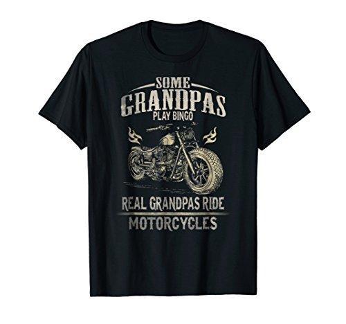 Ride T-shirt Motorcycle (Mens Real Grandpas Ride Motorcycle T-shirt Biker Grandpa Shirt)