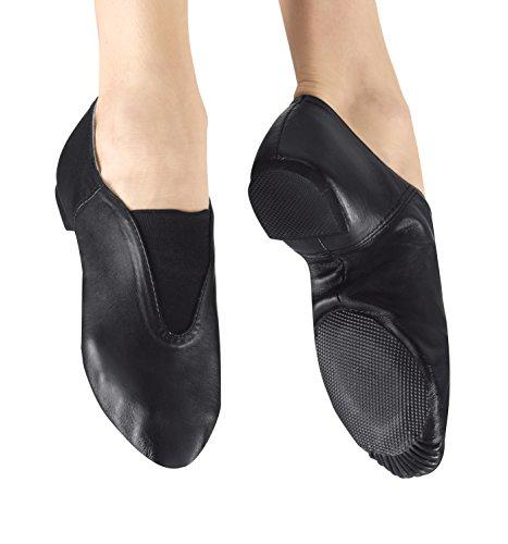 [Adult Gore Top Jazz Shoes,T7902BLK07.0M,Black,07.0M] (Mens Jazz Shoes)