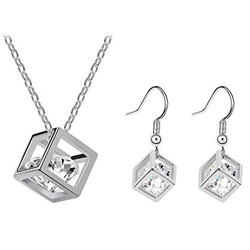 [Hemss Women Plated Necklace Earrings Jewelry Sets Pendant(C2)] (Costumes And Courage Song)
