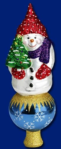 Old World Christmas Snowman Tree Topper Ornament