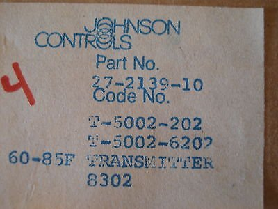 NEW JOHNSON CONTROLS T-5002-202 THERMOSTAT T5002202