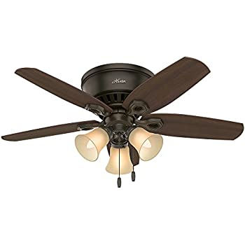 Hunter 51091 42 builder low profile new ceiling fan with light hunter 51091 42 builder low profile new ceiling fan with light bronze mozeypictures Choice Image