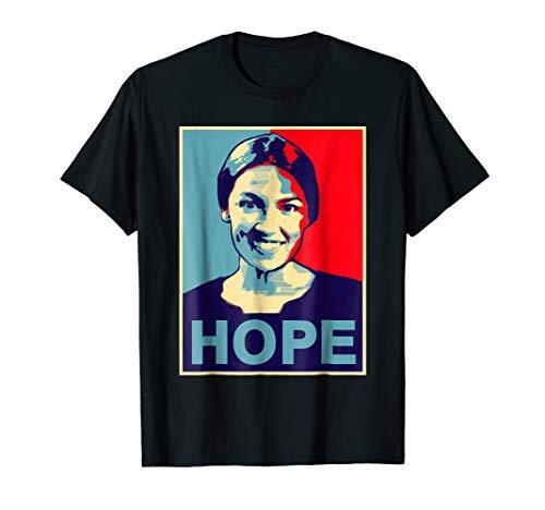 Alexandria Ocasio Cortez HOPE Tshirt Obama Campaign Poster