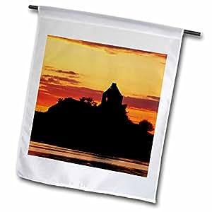 Danita Delimont - Scotland - Sunset, Killundine Castle, Sound of Mull, Scotland - EU36 DWA0021 - David Wall - 12 x 18 inch Garden Flag (fl_82812_1)