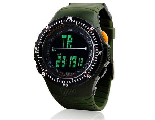 Skmei 0989 5ATM resistente al agua Reloj deportivo digital con plástico blando Correa M.: Amazon.es: Relojes