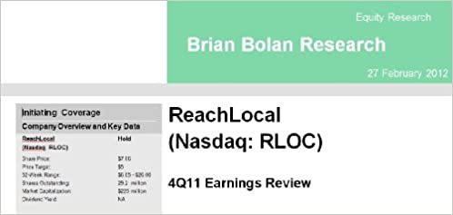 ReachLocal 4Q11 Earnings Review