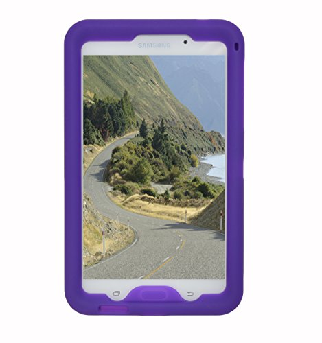 Bobj Rugged Case for Samsung Galaxy Tab 4 7-inch Tablet, models SM-T230, SM-T231, SM-T235, and other SM-T23.., Tab 4 Nook 7 - BobjGear Custom Fit - Sound Amplification - Kid Friendly (Playful Purple)