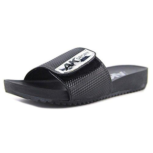 Anne Klein Black Synthetic Toe Open Quen Sandals Womens Slide Casual RRwrB