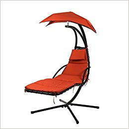 Amazon.com: Hanging Chaise Lounger Chair Arc Stand Air Porch Swing Hammock  Chair Canopy (0848837009847): Books