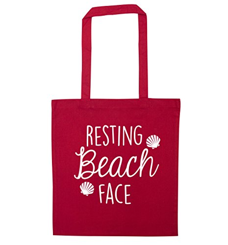 beach Red tote Resting Red beach Resting tote face bag bag face 8Y5wqBxAx