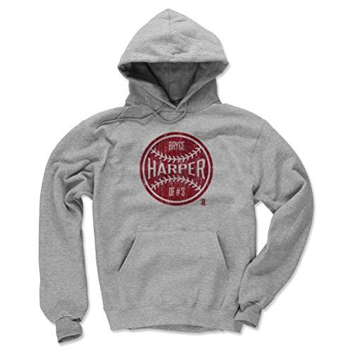 (500 LEVEL Bryce Harper Philadelphia Baseball Hoodie Sweatshirt (X-Large, Gray) - Bryce Harper Philadelphia Ball R)