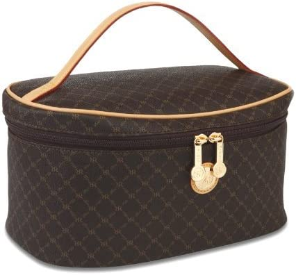 Signature Brown Cosmetic Carrier by Rioni Designer Handbags Luggage