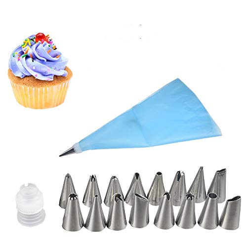 18Pcs /Lot Diy Silicone Ice Piping Cream Pastry Bag Cake Decorating Decorations Designs Squeeze Baking Tool Stainless Steel Nozzle Spray Nozzles Ok 951