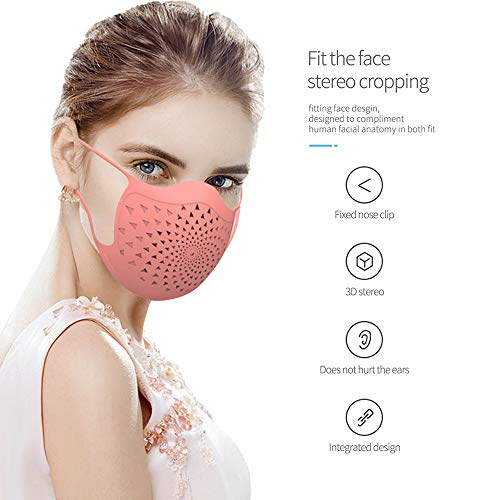 Reusable Silicone Face Shield With 5 Filters - Anti Pollution Washable