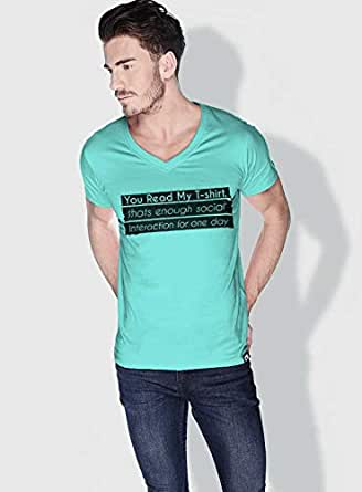 Creo You Read My T Shirt Funny T-Shirts For Men - L, Green