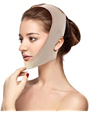 Face Slimming Mask, Face Lifting Slimming Belt V Face Cheek Lifting Chin Face Lifting Mask, Natural Face Lifting Against Double Chin Anti-Aging & Face Slimming Face Bandage (M)