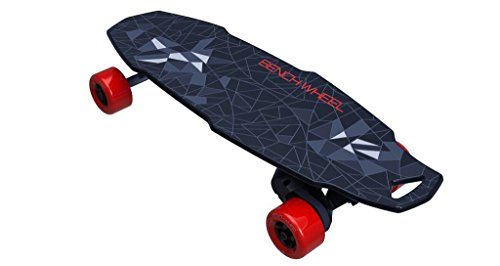 BENCHWHEEL Penny Board 1000W Electric Skateboard, Black, - 27 Inch Electric Range