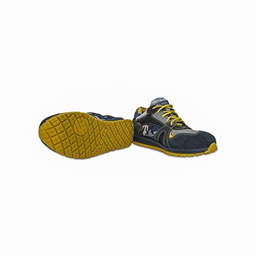 """Cofra 78720-002.W42 S1 P SRC taglia 42 """"Grange"""" Safety-Scarpe da ginnastica colore blu/giallo"""