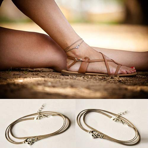 Bluelans Anklets 1Pc Vintage Beach Yoga Bohemian Cord Ankle Bracelet Foot Chain Anklet Jewelry Valentines Day//Wedding//Party//Anniversary//Holiday//Mothers Day//Birthday Gifts