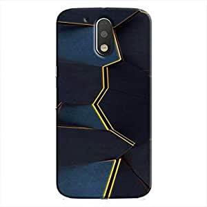 Cover It Up - Gilded Blue Fractures Moto G4/G4 Plus Hard Case
