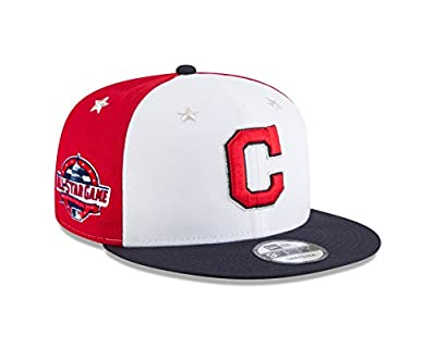 New Era Cleveland Indians 2018 MLB All-Star Game 9FIFTY Snapback Adjustable Hat – White/Navy