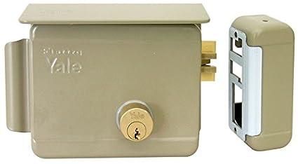 Cerradura eléctrica de sobreponer para puertas Art. 68080 con pestillo azionabile retraído externo y retraído