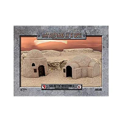 Battlefield in a Box Galactic Warzones Desert Buildings: Toys & Games