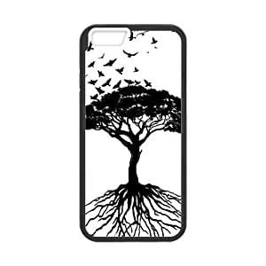 Tt-shop Custom Phone Case Cover Painting Black Tree and Flying Birds For iphone 4 4s