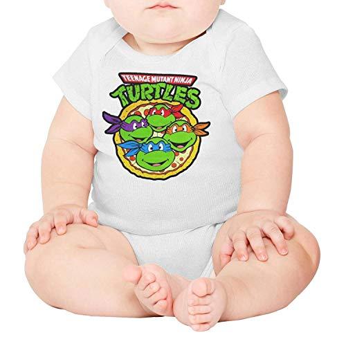 Teenage Mutant Ninja Turtles Pizza Baby Onesies White