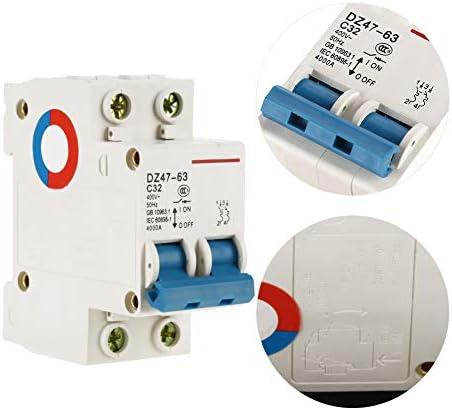 配電システムのための遮断器のミニチュア2P 32A 400Vの遮断器
