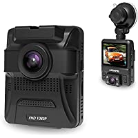 Azdome Dual Lens Dash Cam Vehicle Camera Recorder GS65H with Sony Exmor Sensor 2.4LCD 1080P FHD Wide-Angle View Lens G-sensor Night Mode 2-Port USB Charger (Not support GPS)