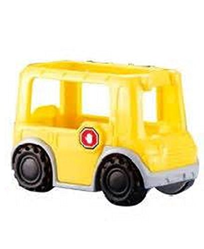 Fisher Price Little People My Neighborhood Vehicles Mini Small Yellow School Bus House Family Village Play Set OOP ()