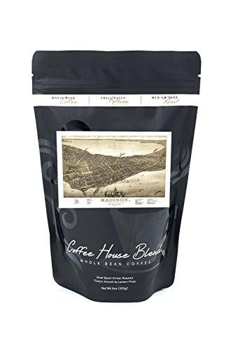 1885 Map (Madison, Wisconsin # 2 - (1885) - Panoramic Map (8oz Whole Bean Small Batch Artisan Coffee - Bold & Strong Medium Dark Roast w/ Artwork))