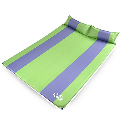 mat/Thickened widening the tent pad and waterproof King size camping/floor mat/ camping mat/Outdoor sleeping pad/Double automatic inflatable cushions-A by Sleeping Pads (Image #1)