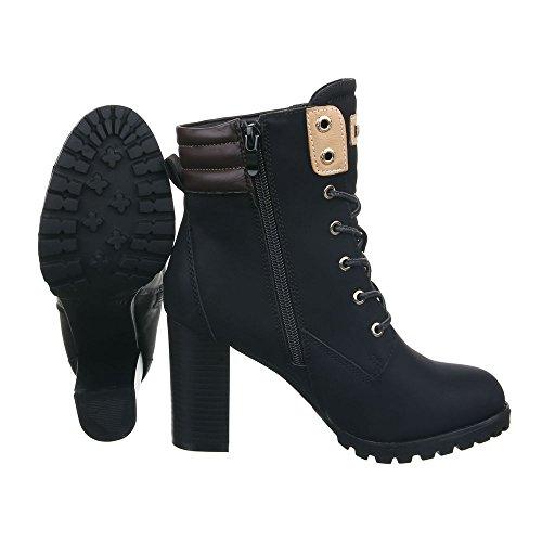 Design negro Ital Militar Botas Mujer 4X10xS