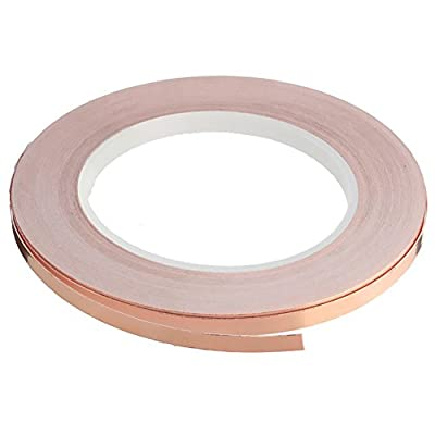 Copper Foil Tape with Double-sided Conductive Adhesive EMI Shielding,Stained Glass,Soldering,Crafts,Electrical Repairs,Slug Repellent,Paper Circuits,Grounding
