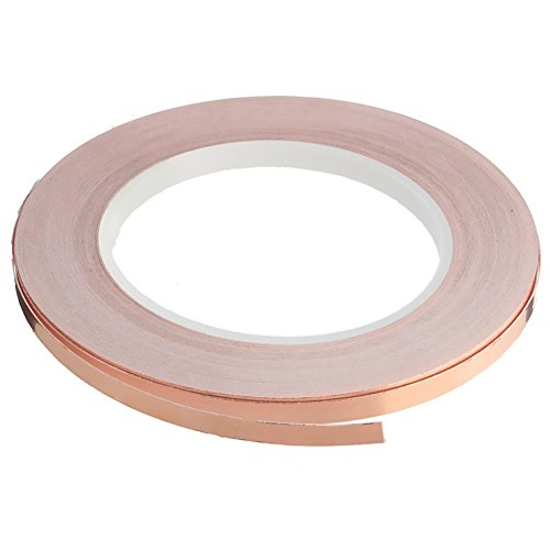 Copper Foil Tape with Double-sided Conductive Adhesive EMI Shielding,Stained Glass,Soldering,Crafts,Electrical Repairs,Slug Repellent,Paper Circuits,Grounding (1/4inch X 27.3yards, 1 Pack) - Soldering Copper Foil