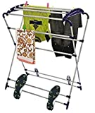 Parasnath Stainless Steel Mini Robot Clothes Drying Stand (Multi-Color)