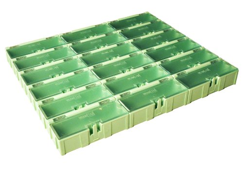 Wen-Tai SMD SMT Component Small-Part Hobby Storage Snap Box and Organizer (18 boxes)