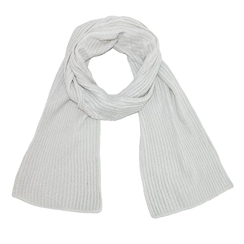 Grand Sierra Women's Ribbed Chenille Scarf, Ivory (White Scarf Chenille)