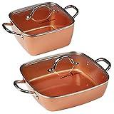 Copper Chef 4-Piece Deep Casserole Pan Set (8', 12')