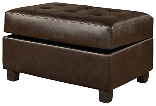 Amazon Com Bobkona Bonded Leather Match Storage Ottoman