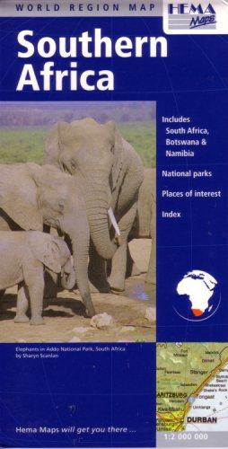 Read Online Southern Africa Travel Map by Hema (English, Spanish, French, Italian and German Edition) PDF