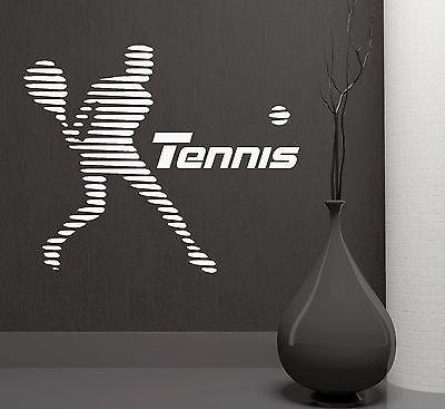 Wall Stickers Tennis Sport Player Sports Room Art Mural Vinyl Decal 1999