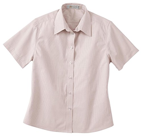 Il Migliore 77021 Ladies' Short Sleeve Wrinkle Resistant Yarn-Dyed Shirt - SAND 003 - M