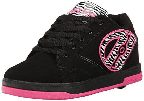 - Heelys Girls' Propel 2.0 Sneaker, Black/Pink/Zebra, 1 M US Little Kid